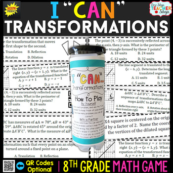8th Grade Transformations Game   8th Grade Math Review