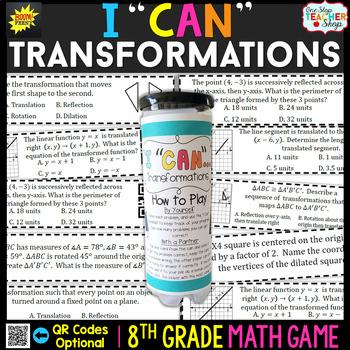 8th Grade Transformations Game - 8th Grade Math Game