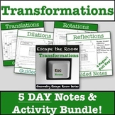 Transformations Activity & Guided Notes Bundle!!