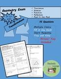 Geometry Transformations Exam