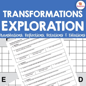 Transformations Exploration (Reflection & Homework Included)