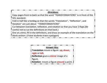 Transformations FlipBook