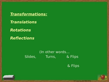 Transformations - Flips, Slides, and Turns