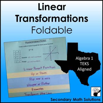 Transformation Foldable Worksheets Teaching Resources TpT