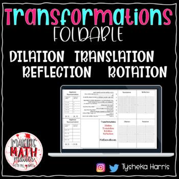 Transformations Foldable (8.10C)