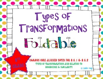 Transformations Foldable (Aligned to CCSS 8.G.1 & 8.G.2)