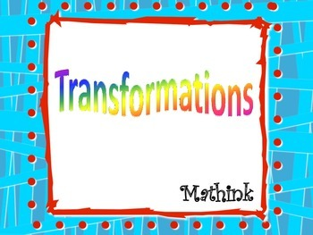 Transformations Foldable and PowerPoint Presentation