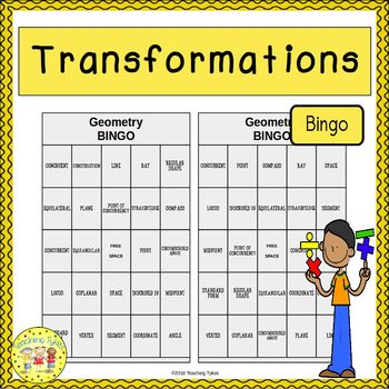 Transformations Geometry BINGO