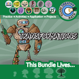 Transformations Unit Bundle - Geometry Curriculum - Distance Learning Compatible