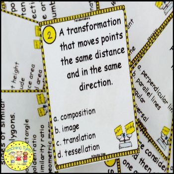 Transformations Geometry Task Cards