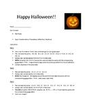 Transformations (Halloween Theme)