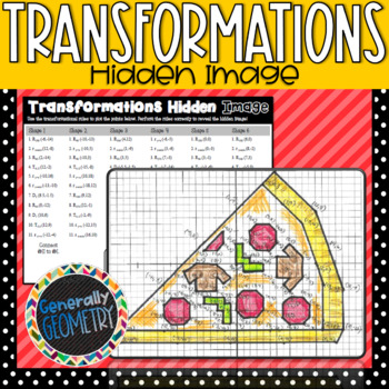 Transformations Hidden Image; Geometry, Translation, Reflection, Rotation