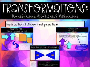 Transformations Instructional Google Slides