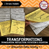 Transformations Interactive Notes Activity