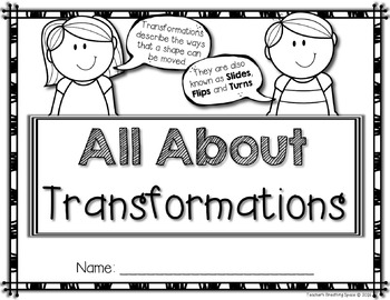 Transformations --- Interactive Student Book and Four Transformations Posters