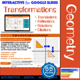 Transformations Interactive Slides for Google Classroom