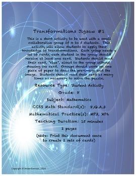 Transformations Jigsaw #1
