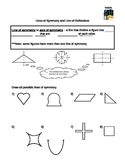 Transformations: Lines of symetry and line reflections Guided Notes