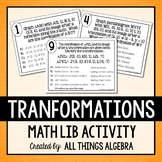 Transformations (Reflections, Translations, Rotations, Dilations) Math Lib