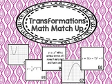 Transformations Math Match Up {Algebra 2}