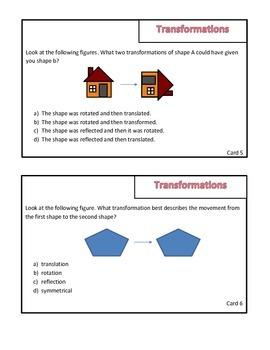 Transformations  Math Review Game: Survivor Theme