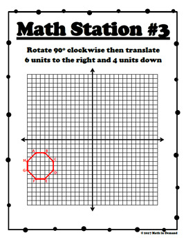 Transformations Math Stations