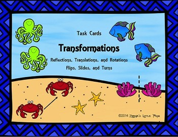 Transformations {Math Task Cards}