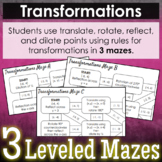 Transformations Mazes - 3 Levels