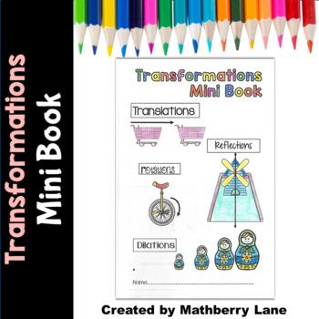 Transformations Mini Book Reflection Rotation Translation