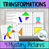 Transformations Mystery Pictures - Distance Learning