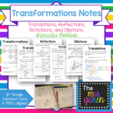 Transformations Notes (Translations, Reflections, Rotations, Dilations)