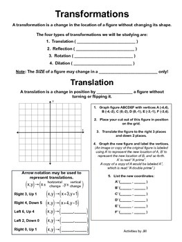 Transformation Notes and Practice
