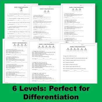 Transformations Translations Reflections Rotations Dilations Hurdles