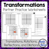 Transformations - Partner Practice Worksheets