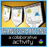 Geometric Transformations Math Pennant Activity - Quadrant 1 only