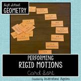 Transformations: Performing Rigid Motions Sorting Cards