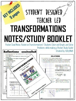 Transformations Pocket Sized Booklet Notes & Study Guide