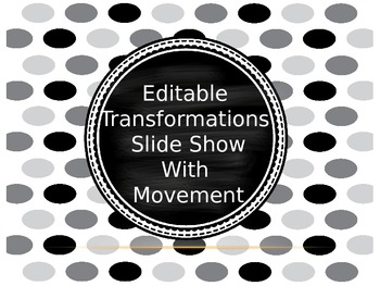 Transformations Power Point with Animations (Editable)