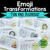 Transformations Practice Emojis: Translate, Reflect, Rotate, and Dilate