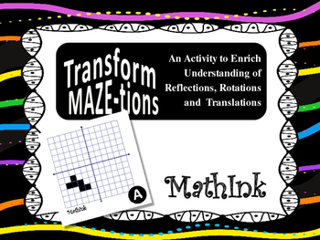 Transformations Practice as a Maze