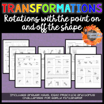 Transformations: Practicing Rotations Worksheets