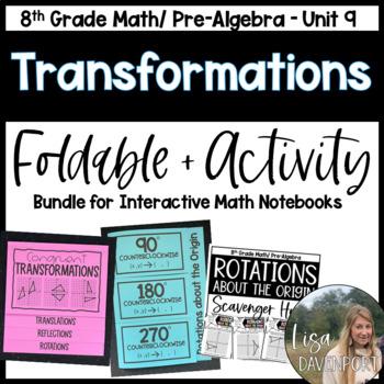 Transformations (Pre-Algebra Foldable & Activity Bundle)
