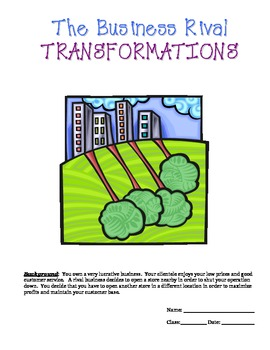 Transformations Project - CCSS 8.G.1, 8.G.2, 8.G.3, and 8.G.4