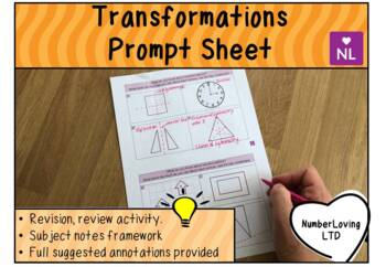 Transformations (Prompt Sheet)