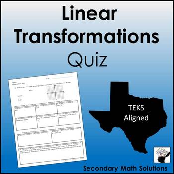 Linear Transformations Quiz
