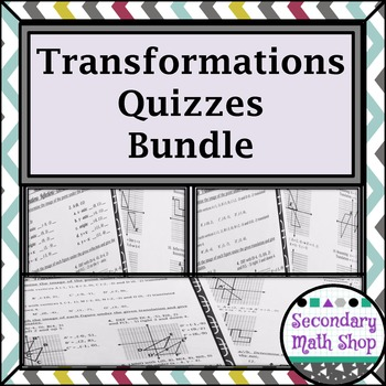 Transformations:  Quizzes Money Saving Mini - BUNDLE!!!
