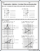 Transformations:  Reflections - Coordinate Plane and Similarity Quiz
