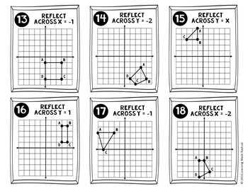 Transformations (Reflections) Grab n Solve Activity