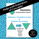 Transformations Reflections Translations Common Core Test Prep 8.G. 1 2 3