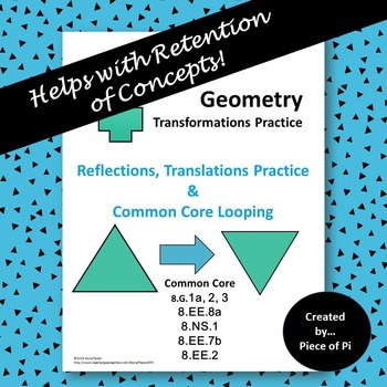 Transformations Reflections Translations Common Core Test